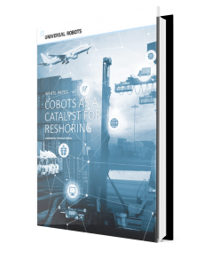 Cobots as a catalyst for reshoring ebook cover