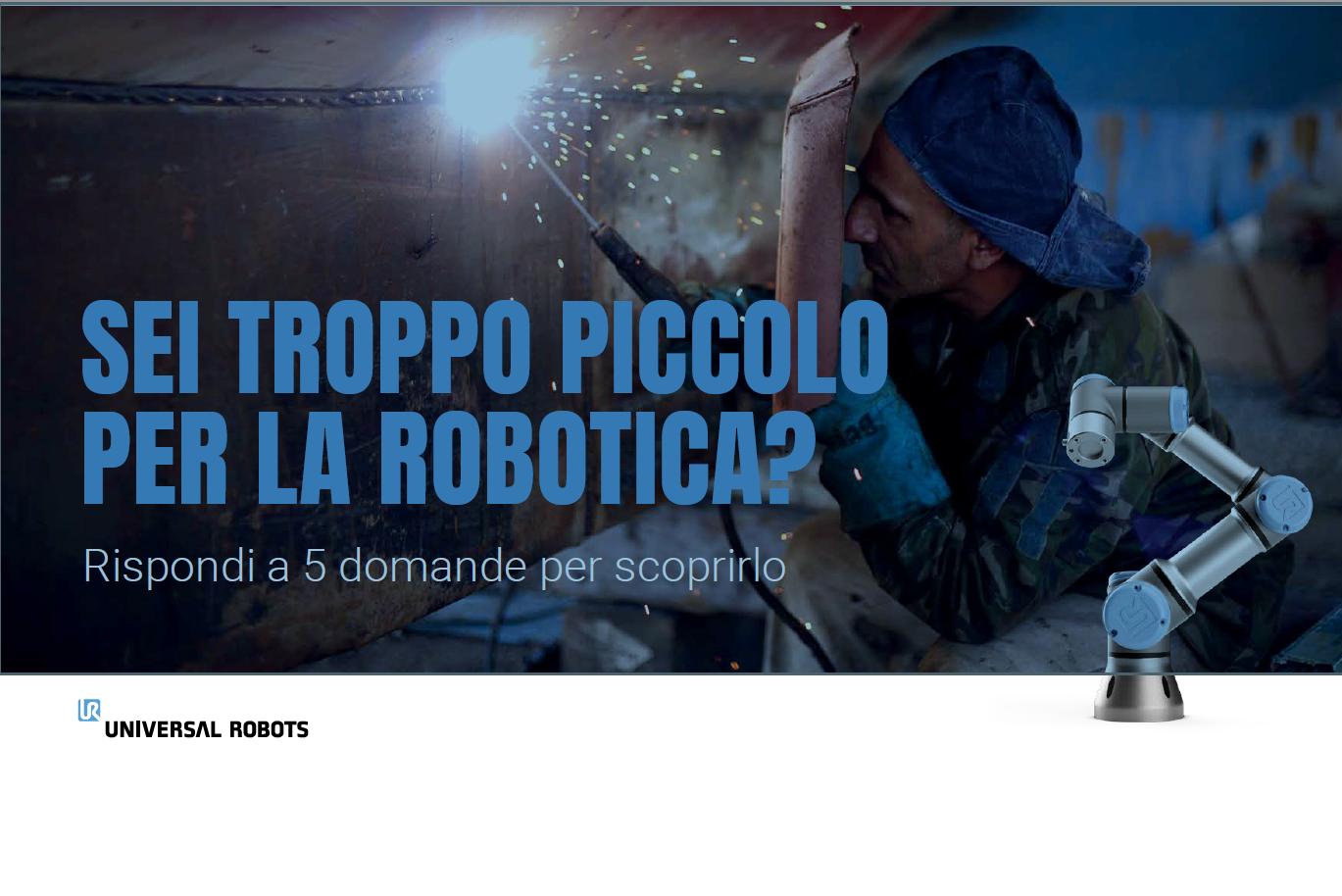 troppo piccolo per la robotica, ebook, cobot